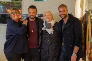 Bibiana Stoecklin-Bruderer mit Burak Uyan und Gabrielle Mazurczak und Srdjan Prodanovic