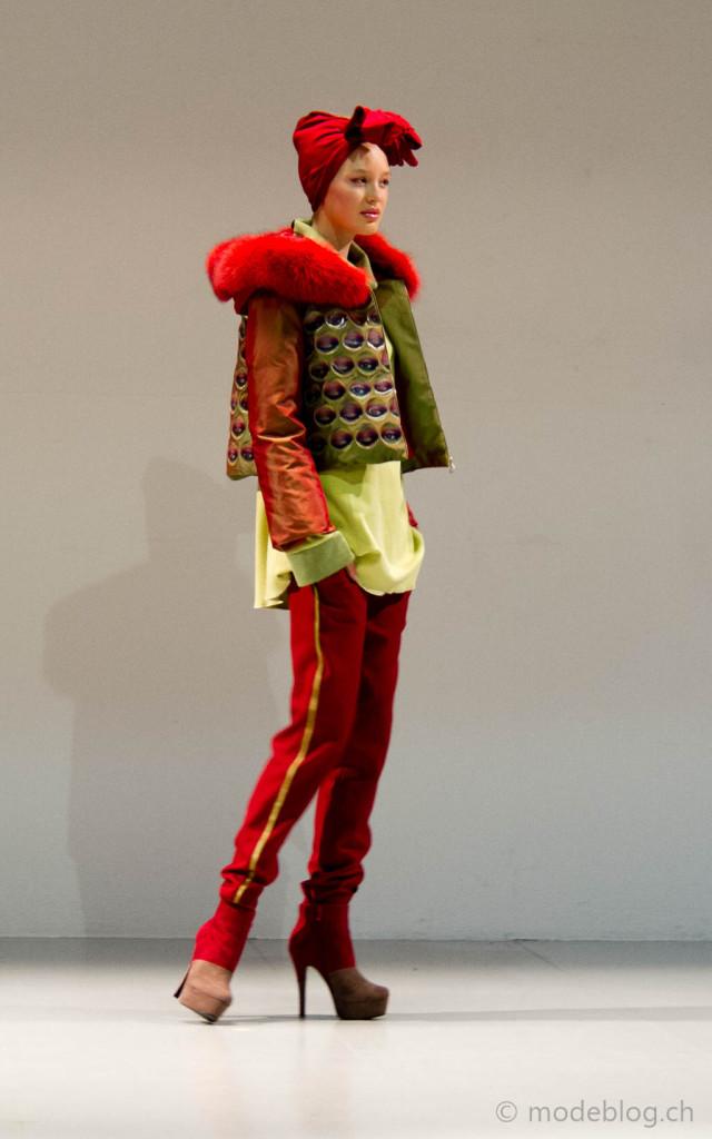 Modeschau Modeschule Zürich 2014 Lena Schneiter Lentico