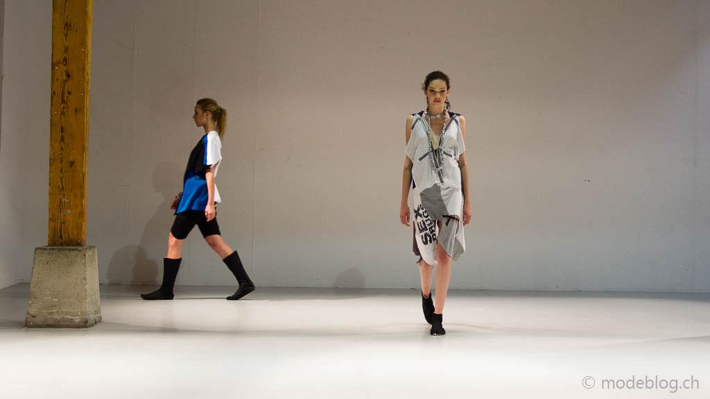 Modeschau Modeschule Zürich 2014 Elisa Russo Durchunddurchtshirt