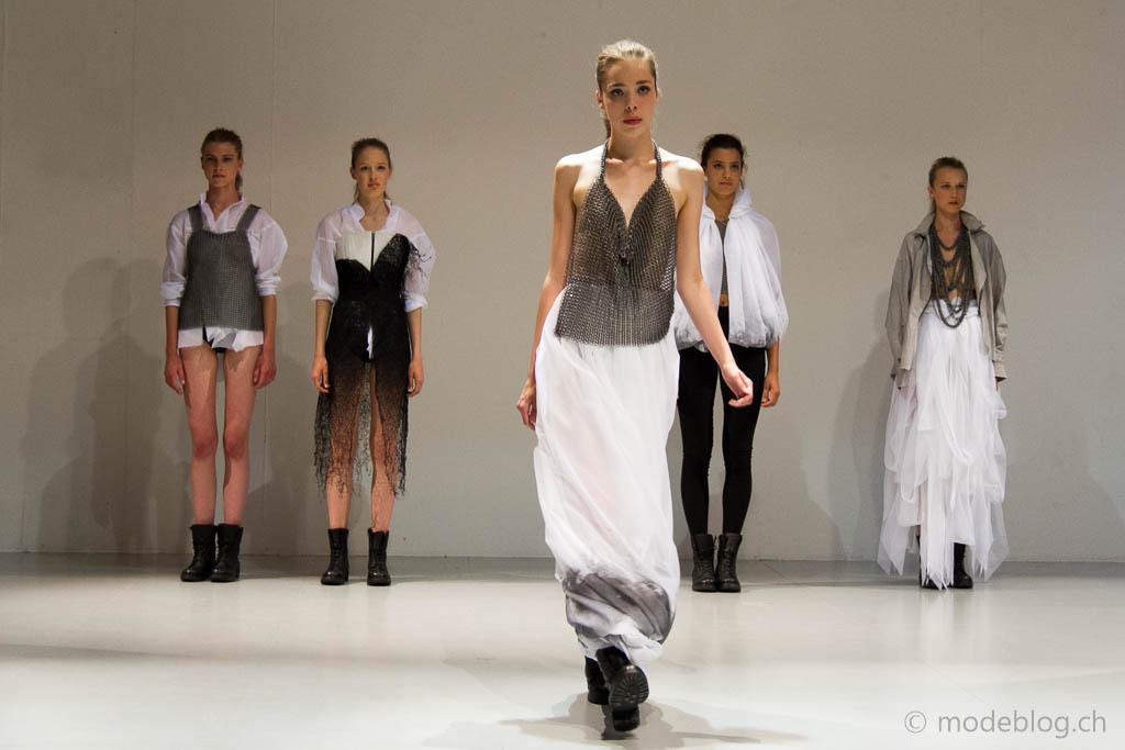 Modeschau Modeschule Zürich 2014 Miriam Balli Kingdom of Mist