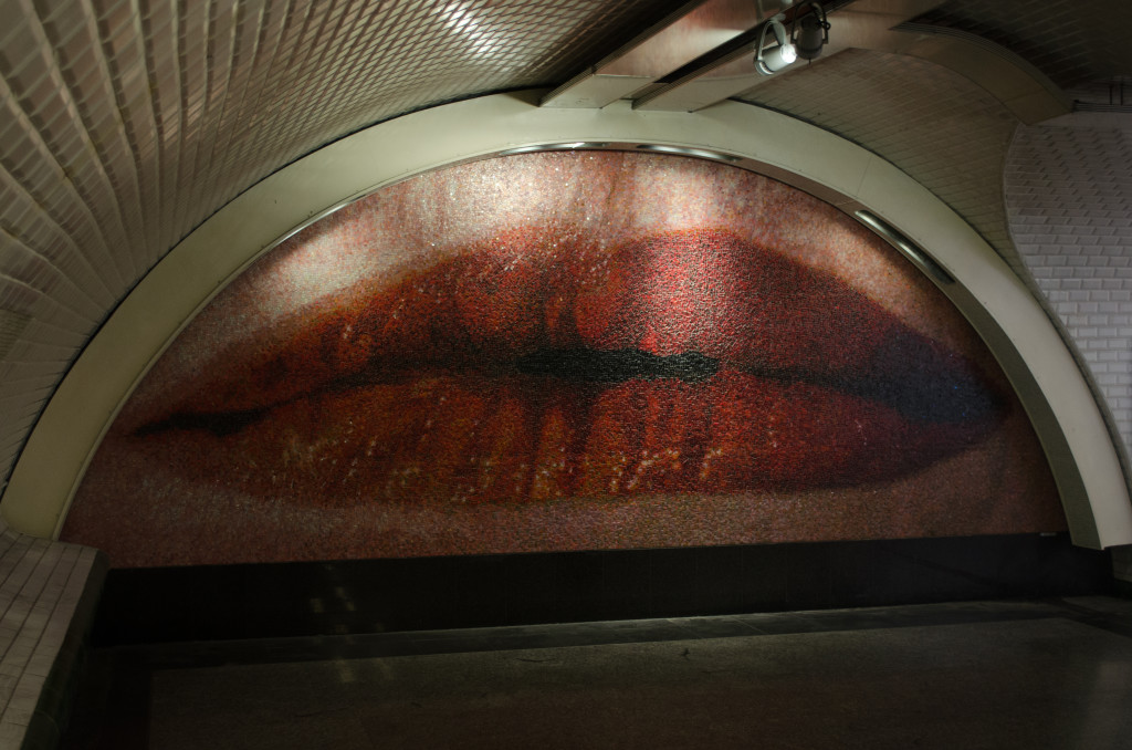 Bisous de Paris, Lippenmosaik Metrostation Paris