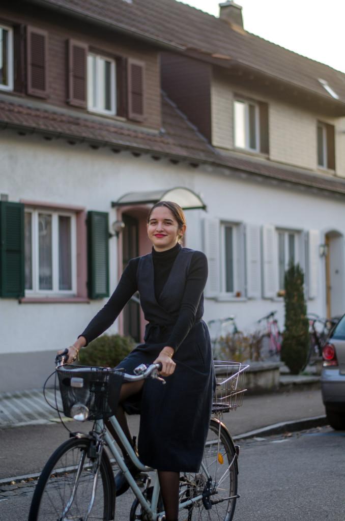 Fahrrad-Midikleid